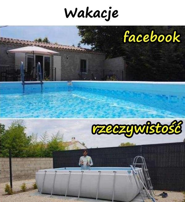 Wakacje - facebook i rzeczywistość