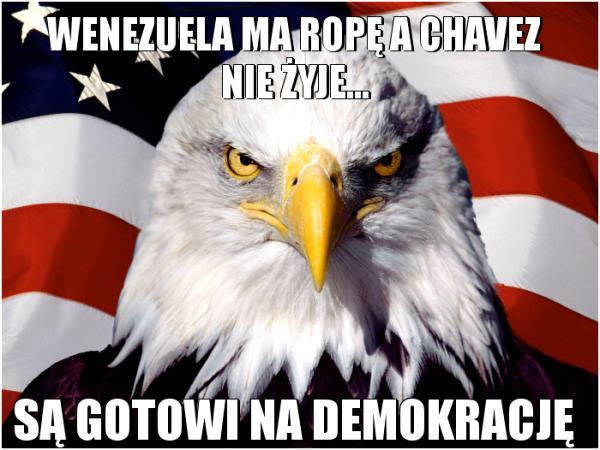 Wenezuela ma ropę a Chavez nie żyje... są gotowi na demokrację