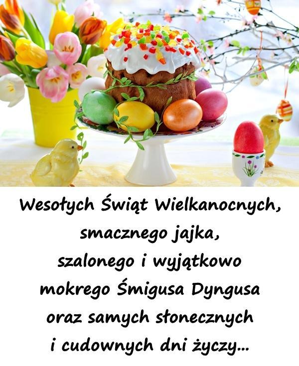Wesołych Świąt Wielkanocnych, smacznego jajka, szalonego i wyjątkowo mokrego Śmigusa Dyngusa oraz samych słonecznych i cudownych dni życzy...
