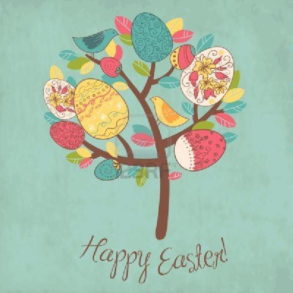 Wielkanocne drzewko szczęścia. Najlepsze życzenia od Xdpedii :)
