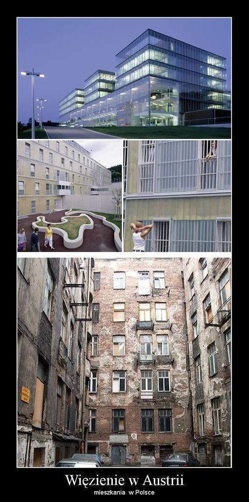 Więzienie w Austrii, mieszkania w Polsce