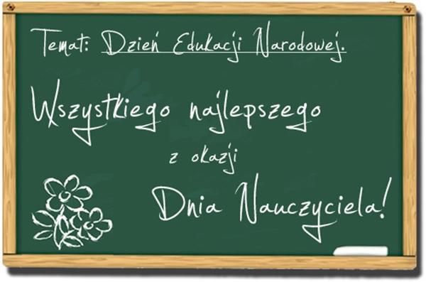 Wszystkiego Najlepszego z Okazji Dnia Nauczyciela