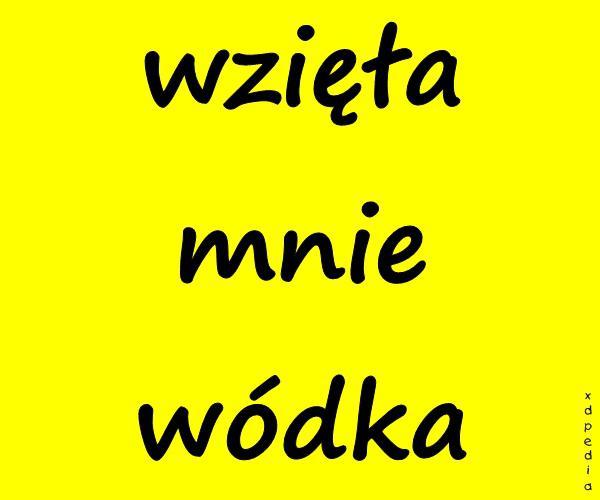 wzięła mnie wódka Tagi: kwejk, wódka, memy, picie, mem, melanż, impreza, chlanie.
