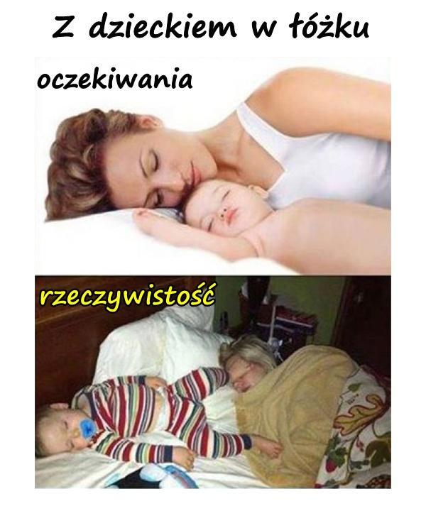 Z dzieckiem w łóżku
