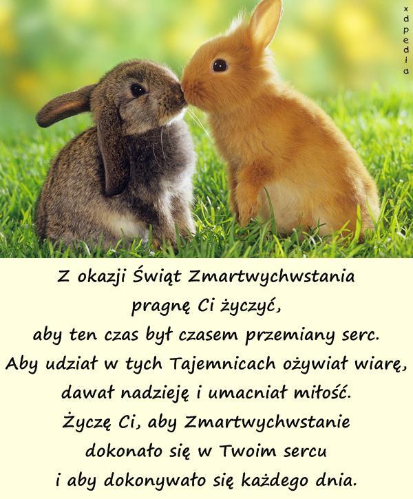 Z okazji Świąt Zmartwychwstania pragnę...