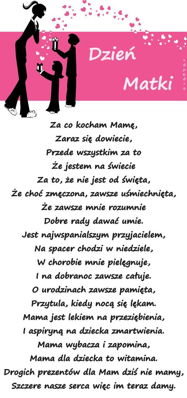 Dzień życzenia Na Dzień Matki Memy Wiersz Kartka