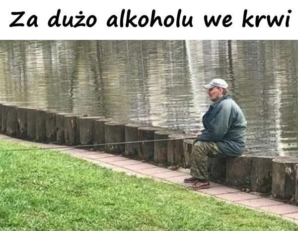 Za dużo alkoholu we krwi