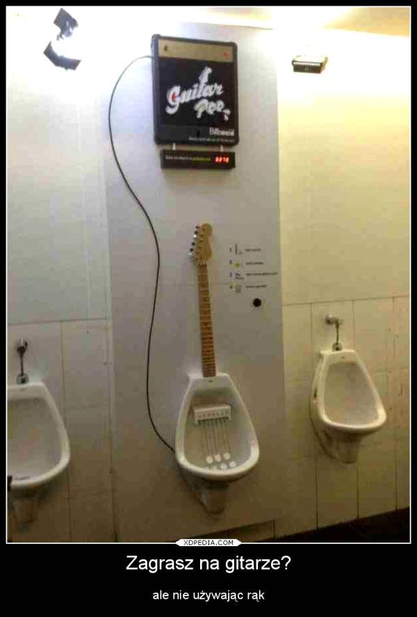 Zagrasz na gitarze? ale nie używając rąk
