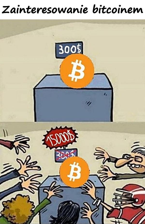Zainteresowanie bitcoinem