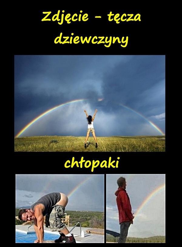 Zdjęcie - tęcza: dziewczyny i chłopaki