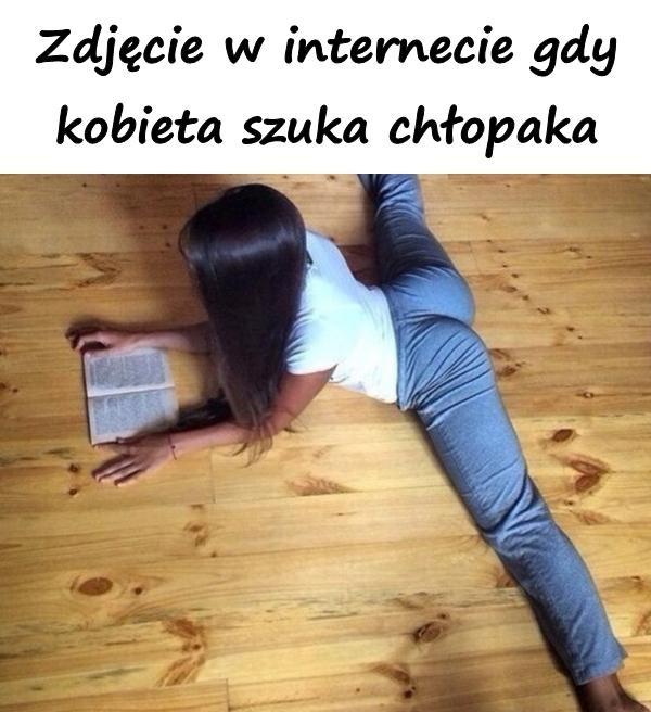 Zdjęcie w internecie gdy kobieta szuka chłopaka