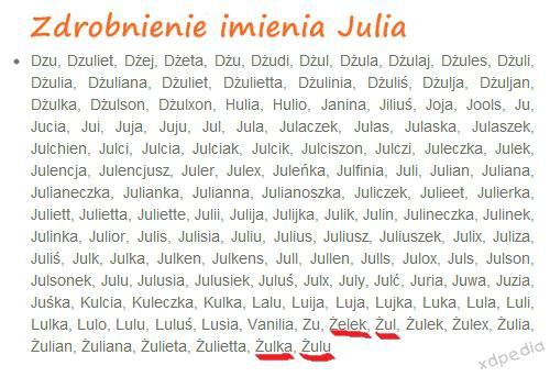 Zdrobnienie imienia Julia: Żulek, Żuli, Żulka, Żulu Tagi: kwejk, memy, mem, julia, zdrobnienia, imiona, żulek, żuli, żulka, żulu, zdrobnienie.