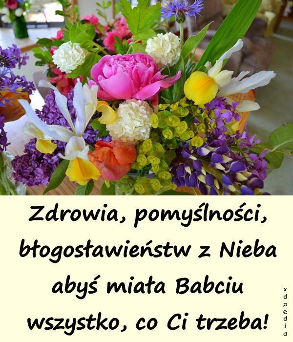 Zdrowia, pomyślności, błogosławieństw z Nieba abyś miała Babciu wszystko, co Ci trzeba!
