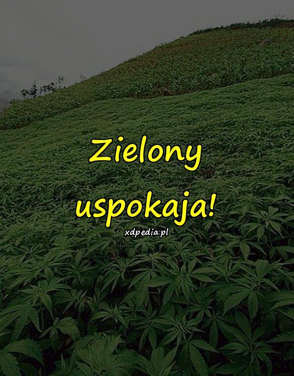Zielony uspokaja!