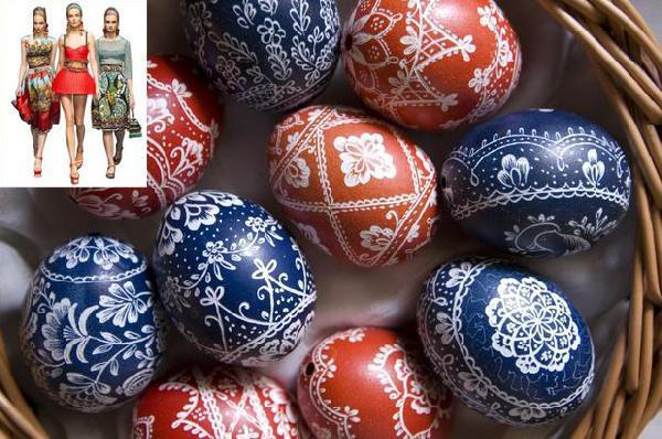 Wzory pisanek nie tylko na jajkach, spódniczki też pięknie z nimi wyglądają.