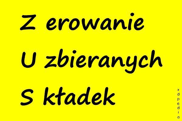 ZUS - Zerowanie Uzbieranych Składek :)