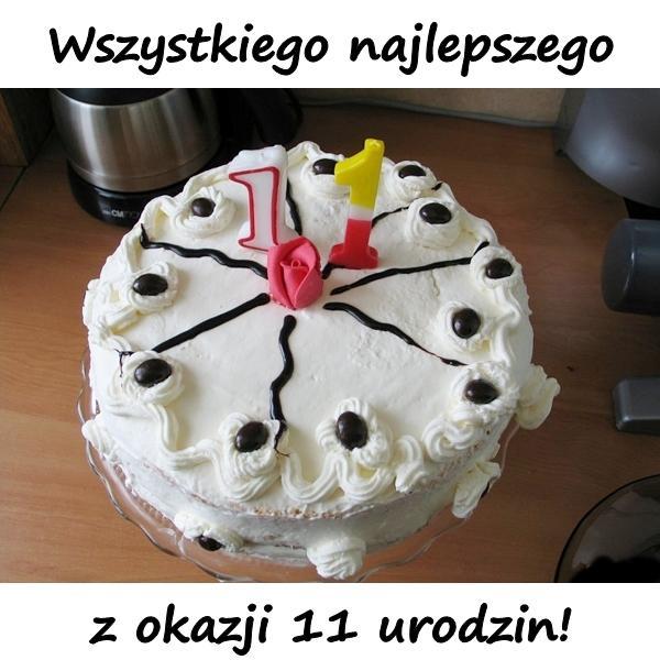 Wszystkiego najlepszego z okazji 11 urodzin!
