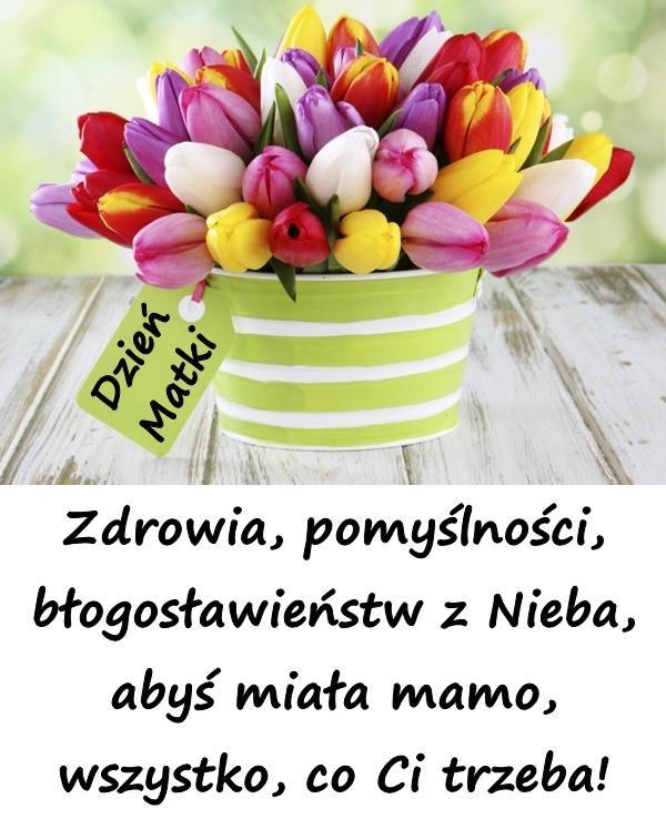 Zdrowia, pomyślności, błogosławieństw z Nieba, abyś miała mamo, wszystko, co Ci trzeba!
