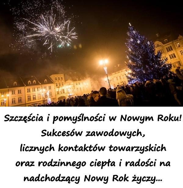 Szczęścia i pomyślności w Nowym Roku! Sukcesów zawodowych, licznych kontaktów towarzyskich oraz rodzinnego ciepła i radości na nadchodzący Nowy Rok życzy...