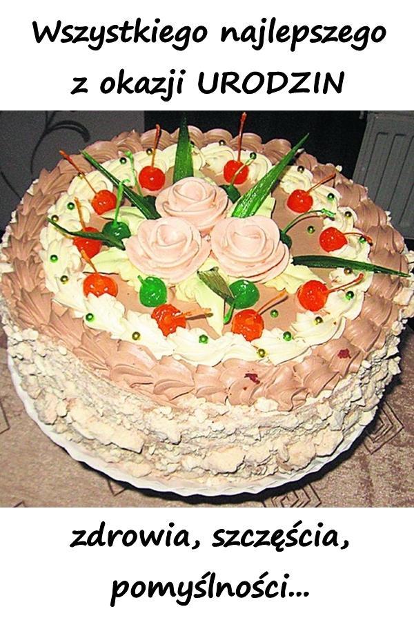 Życzenia Urodzinowe Wszystkiego najlepszego z okazji URODZIN zdrowia, szczęścia, pomyślności...