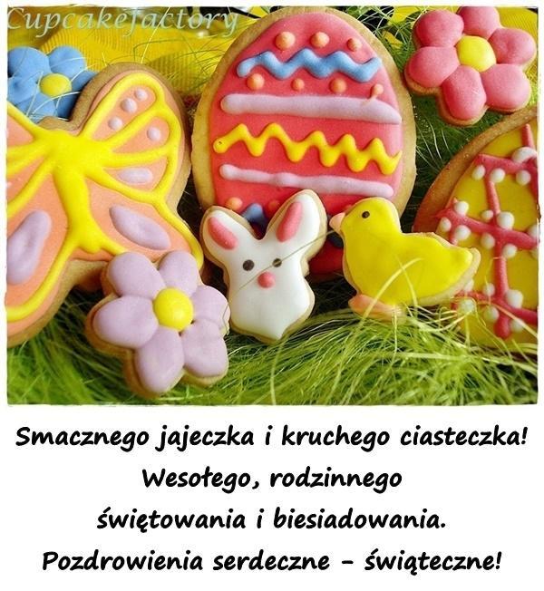 Smacznego jajeczka i kruchego ciasteczka! Wesołego, rodzinnego świętowania i biesiadowania. Pozdrowienia serdeczne - świąteczne!